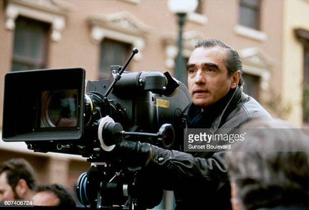 American director Martin Scorsese on the set of his movie The Age of Innocence based on the novel by Edith Wharton