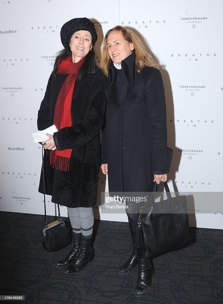 American director of theatre Julie Taymor and Karen Thorson attend the 'Breathe In' premiere at Sunshine Landmark on March 18, 2014 in New York City.