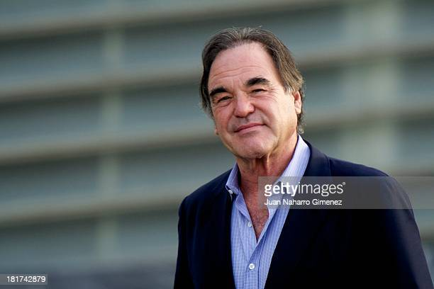 American director Oliver Stone attends the 'The Untold History of the United States' photocall at The Kursaal Congress Centre during 61st San...