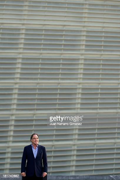 American director Oliver Stone attends the The Untold History of the United States photocall at The Kursaal Congress Centre during 61st San Sebastian...