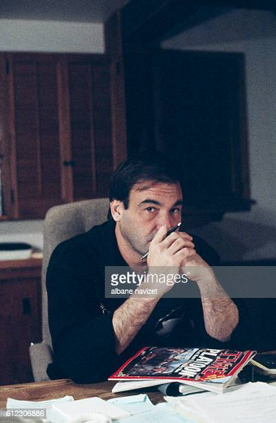 American director Oliver Stone in his Los Angeles home