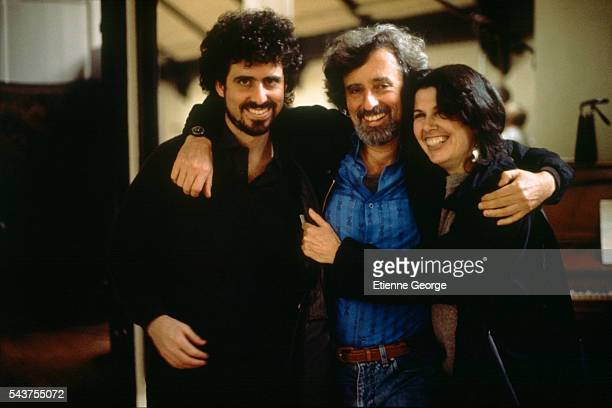American director Philip Kaufman and his wife Rose Kaufman and son Peter on the set of the his film 'Henry June' based on French writer Anais Nin's...