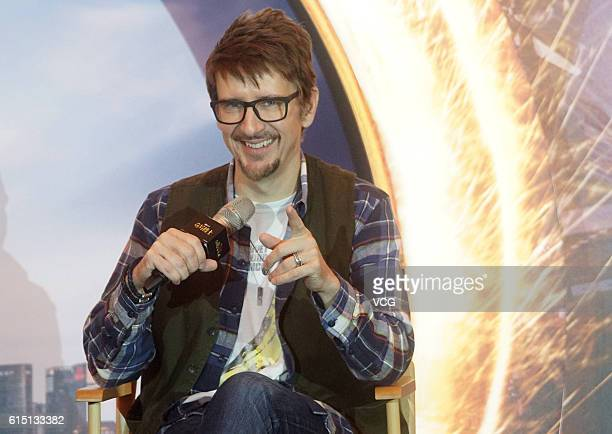 American director Scott Derrickson attends the press conference of his film 'Doctor Strange' on October 17 2016 in Shanghai China