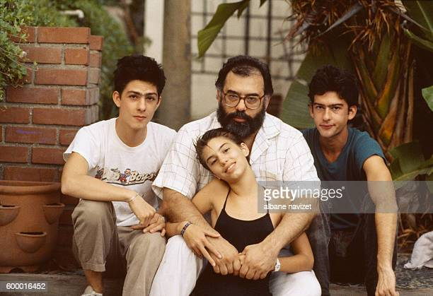 American director screenwriter and producer Francis Ford Coppola and his children GianCarlo Roman and Sofia he had with Eleanor Neil
