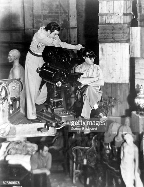 American director screenwriter producer and actor Orson Welles on the set of his movie Citizen Kane