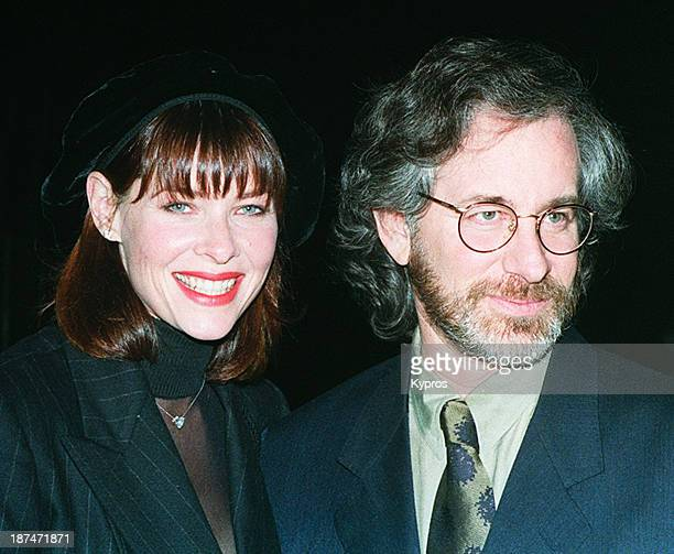 American director Steven Spielberg with his wife actress Kate Capshaw circa 1992