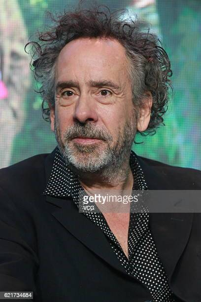 American director Tim Burton attends the press conference of his film 'Miss Peregrine's Home for Peculiar Children' on November 8 2016 in Beijing...