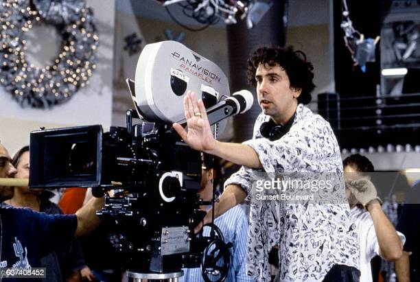 American director Tim Burton on the set of his movie Batman Returns