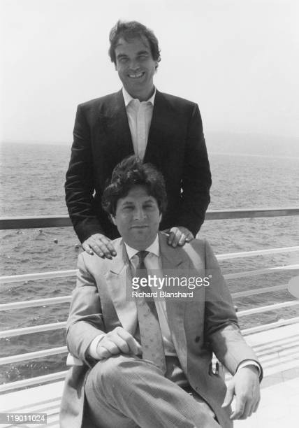 American director writer and producer Oliver Stone at the Hotel Du Cap in Antibes France during the Cannes Film Festival France May 1988