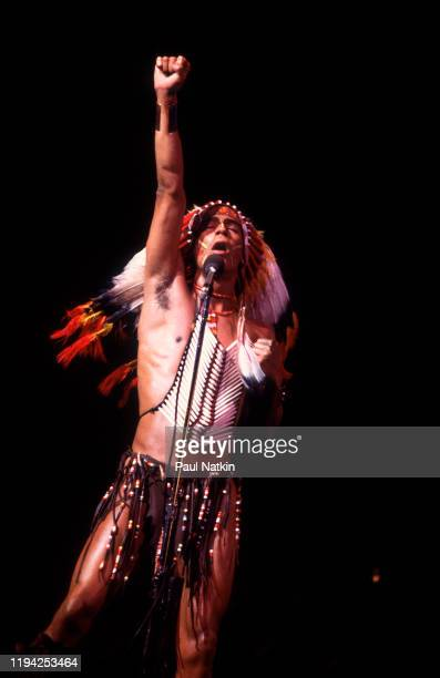 American Disco vocalist Felipe Rose of the group the Village People performs onstage at the Chicago Stadium Chicago Illinois June 21 1979