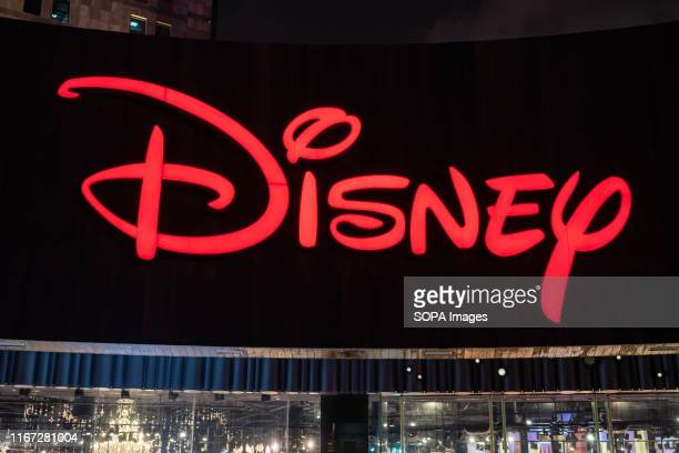 American diversified multinational mass media and entertainment conglomerate The Walt Disney Company logo seen in Shanghai.