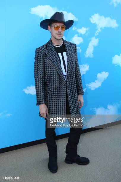 American DJ Diplo attends the Louis Vuitton Menswear Fall/Winter 2020-2021 show as part of Paris Fashion Week on January 16, 2020 in Paris, France.