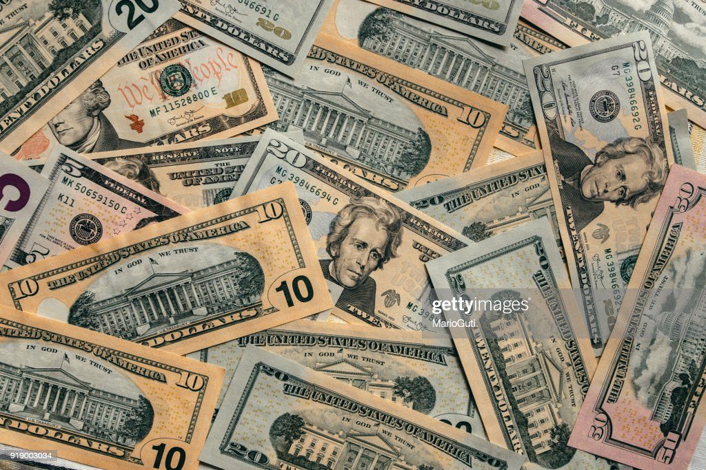 American dollar bills : Stock Photo
