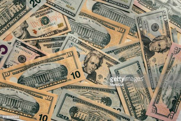 american dollar bills - heap stock pictures, royalty-free photos & images