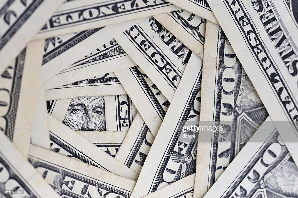 American dollars debt : Stock Photo