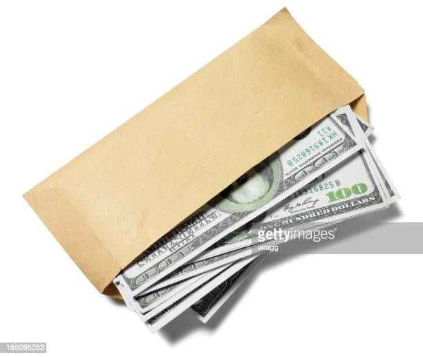 American Dollars in a Envelope
