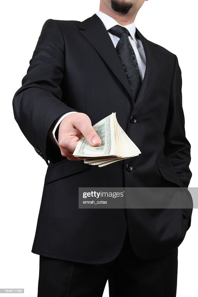 American dollars in a hand : Stock Photo