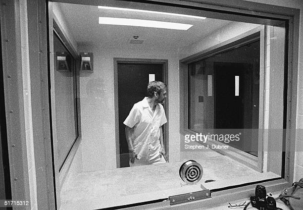 **EXCLUSIVE** American domestic terrorist luddite and mathematics teacher Ted Kaczynski turns and looks into a twoway mirror as he walks into a...