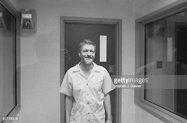 **EXCLUSIVE** American domestic terrorist luddite and mathematics teacher Ted Kaczynski stands and smiles during an interview in a visiting room at...