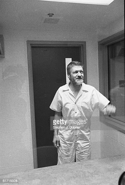 **EXCLUSIVE** American domestic terrorist luddite and mathematics teacher Ted Kaczynski gestures and smiles during an interview in a visiting room at...