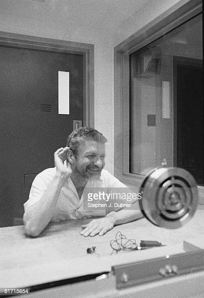 **EXCLUSIVE** American domestic terrorist luddite and mathematics teacher Ted Kaczynski smiles and cups his hand to his ear during an interview in a...