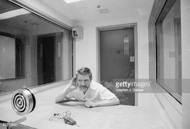 **EXCLUSIVE** American domestic terrorist luddite and mathematics teacher Ted Kaczynski cups his hand to his ear during an interview in a visiting...