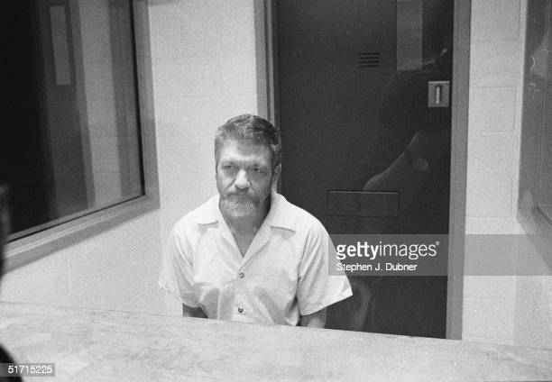 **EXCLUSIVE** American domestic terrorist luddite and mathematics teacher Ted Kaczynski sits and listens during an interview in a visiting room at...