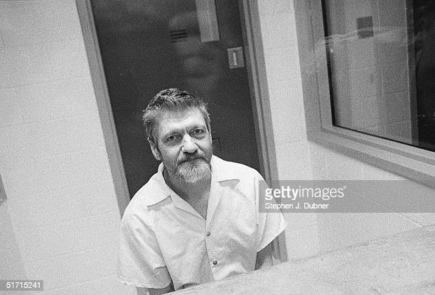 **EXCLUSIVE** American domestic terrorist luddite and mathematics teacher Ted Kaczynski sits and poses during an interview in a visiting room at the...