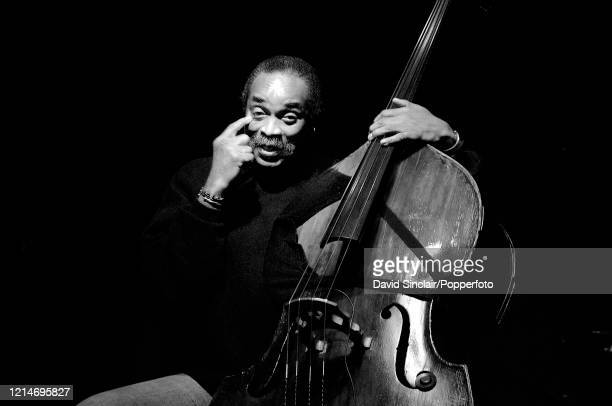 American double bass player Alex Blake performs live on stage at Ronnie Scott's Jazz Club in Soho London on 21st November 2007