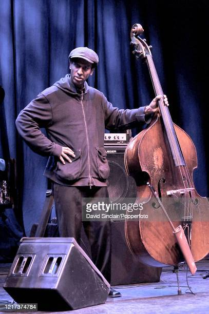 American double bass player Belden Bullock performs live on stage at the Barbican in London on 30th March 2010