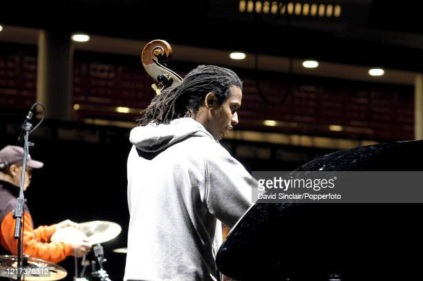 American double bass player Belden Bullock performs live on stage at the Royal Festival Hall in London on 25th October 2003