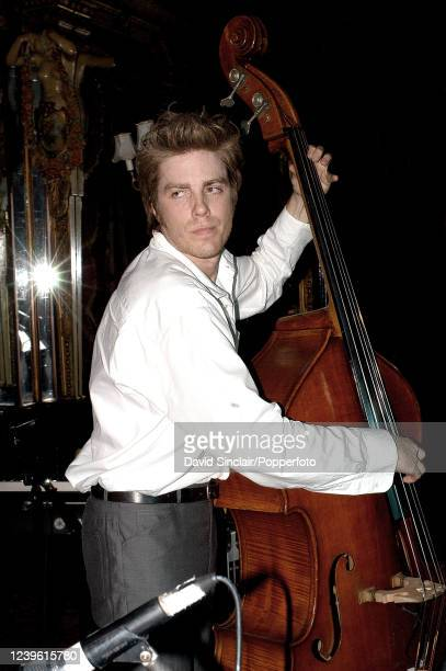 American double bass player Kyle Eastwood performs live on stage at the Cafe Royal in London on 8th October 2003.