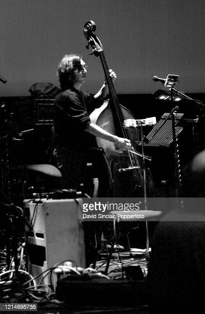 American double bass player Robert Black performs live on stage at the Barbican in London on 12th May 2002