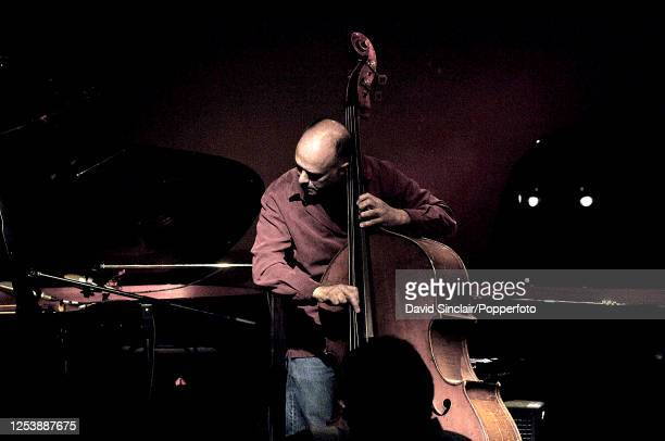 American double bassist Larry Gray performs live on stage at Ronnie Scott's Jazz Club in Soho London on 17th July 2006