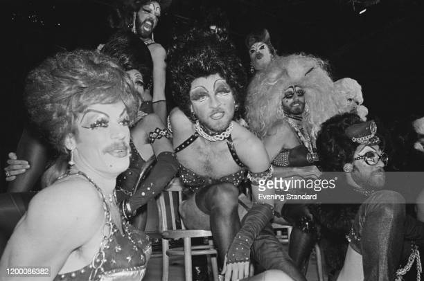 American drag act the Cycle Sluts at Larry Parnes' new venue the Broadway Theatre in Kilburn London England 22nd April 1976