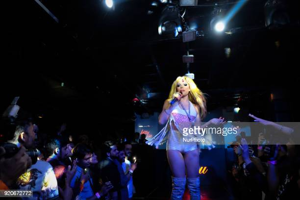 American drag artist Willam Belli during his drag show performance at hotel The Lalit's nightclub 'Kitty Su' in New Delhi on 17th February, 2018.