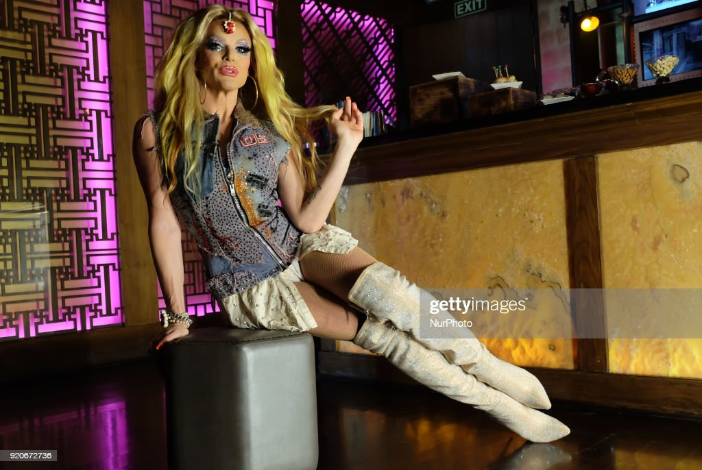 American dragqueen Willam Belli performs in New Delhi : News Photo