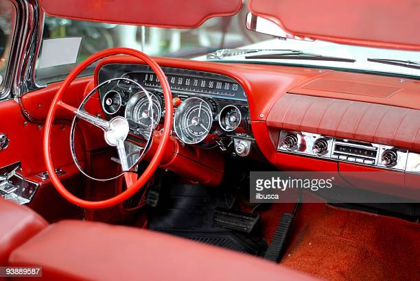 american dream fifties car 6 - vehicle interior stock pictures, royalty-free photos & images