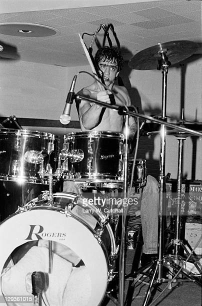 American drummer Bill Berry of the group REM performs during a free concert in the student center at the University of Georgia's Memorial Hall Athens...