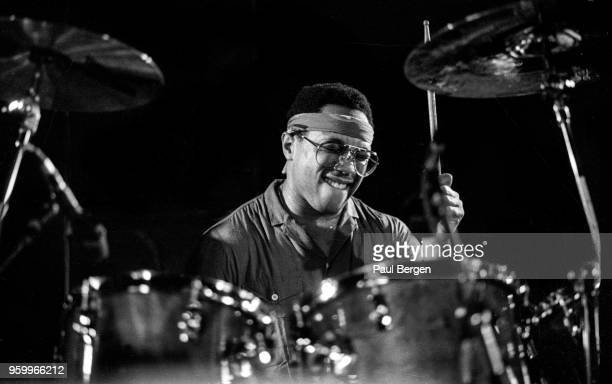 American drummer Billy Cobham performs at De Boerderij, Zoetermeer, Netherlands, 22nd October 1987.
