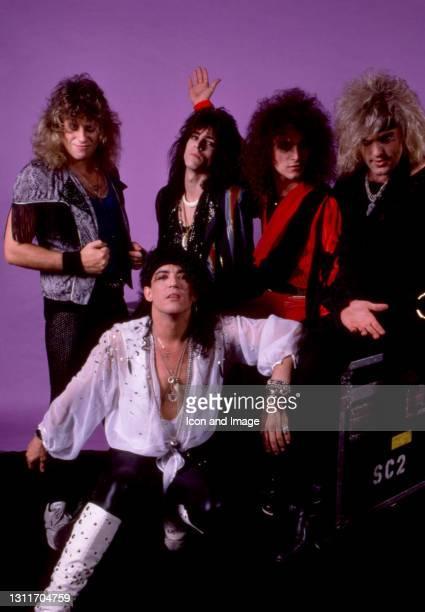 American drummer Bobby Blotzer, American musician Stephen Pearcy, American guitarist Warren DeMartini, Cuban-born American hard rock bassist and...