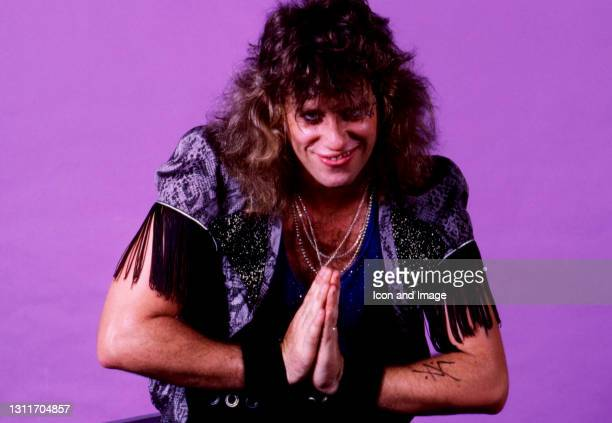 American drummer Bobby Blotzer, of the American glam metal band Ratt, poses for a portrait during the Invasion of Your Privacy Tour on July 18, 1985...