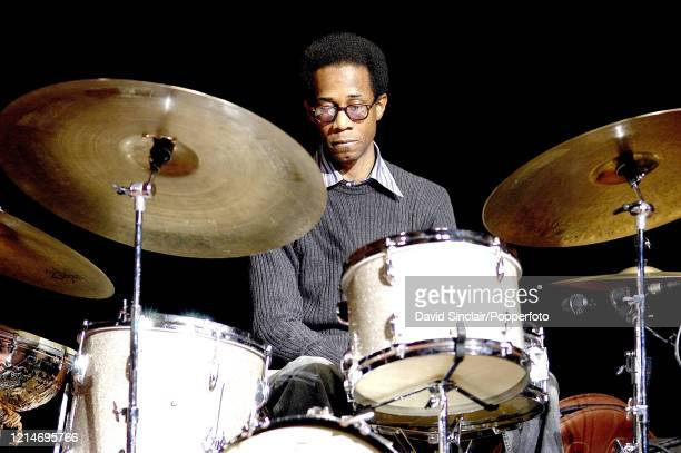 American drummer Brian Blade performs live on stage at The Dome in Brighton England on 6th March 2003