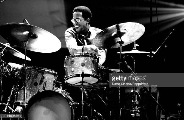 American drummer Brian Blade performs live on stage at The London Jazz Festival on 10th November 2001