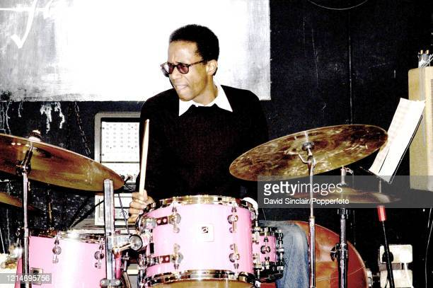 American drummer Brian Blade performs live on stage at The Vortex in London on 14th January 2003