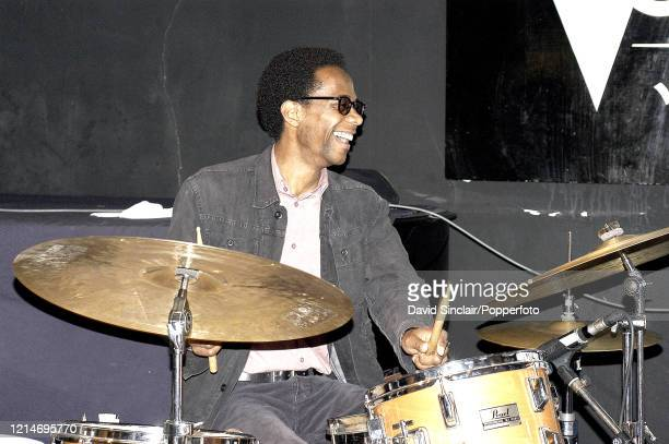 American drummer Brian Blade performs live on stage at The Vortex in London on 10th May 2004