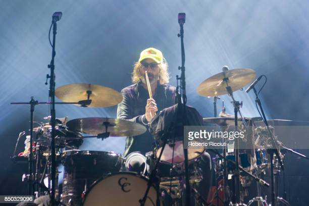 American drummer Bryan Devendorf of The National performs live on stage at Usher Hall on September 20 2017 in Edinburgh Scotland