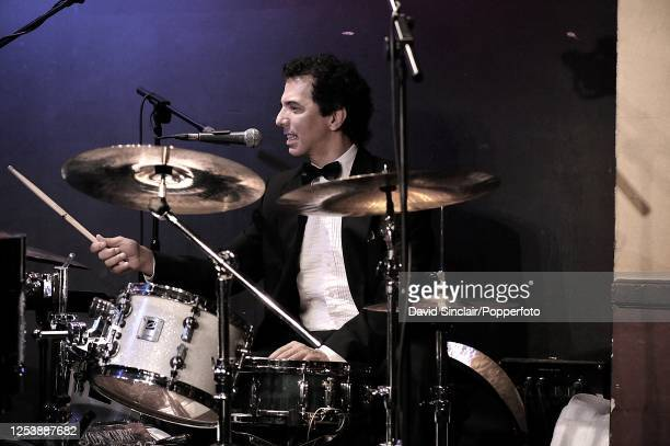 American drummer Buddy Greco Jr performs live on stage at Ronnie Scott's Jazz Club in Soho London on 18th June 2009