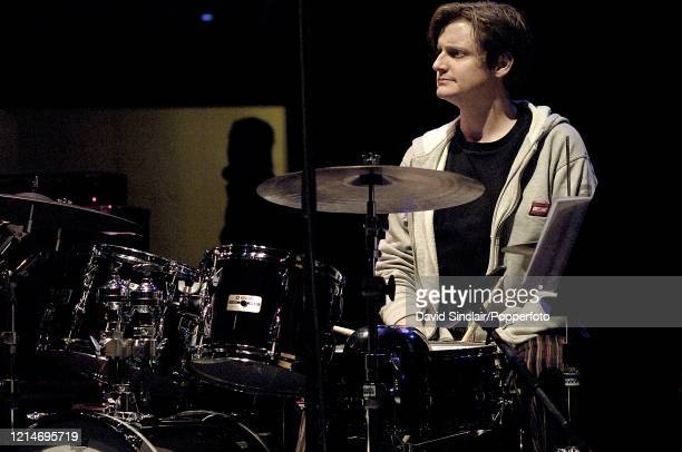 American drummer Jim Black performs live on stage at The Purcell Room in London on 16th November 2005