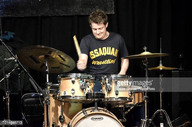 American drummer Jim Black performs live on stage at The Vortex Club in London on 15th February 2014